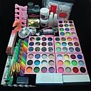 Buy 10Acrylic UV Powder Glitter Glue Nail Art Tool Kit Set 12 Varied Colors Pearl 1 Clipper Buffer Block 3D Acrylic Mold Tweezer
