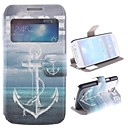 Hope Anchor Design PU Full Body Case with Window and Stand for Samsung Galaxy S4 Mini I9190