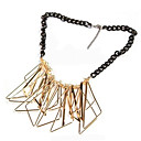 European Style Trianges Statement Necklace
