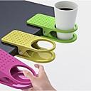 la tabla del sostenedor creativo clip de la taza de cristal gran mesa de cocina clip de vajilla (color al azar) 3-piezas