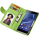 Soft Touch Wallet PU Leather Case for Sony Xperia Z2