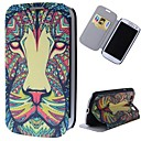 Cartoon Lions Pattern Full Body Case with Stand PU Leather Case for Samsung Galaxy S3 I9300