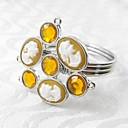 Cameo Crystal Flower Napkin Ring,Acrylic Beades, 4.5CM, Set of 12