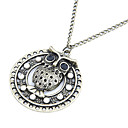 Classic Diamanted Owl Shape Pendant Necklace(1 Pc)
