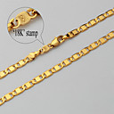 U7® 18K Real Chunky Gold Plated Link Chain Necklace Jewelry Gift for Men Women 4MM 55CM