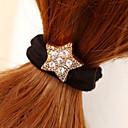 πενταγώνου μαλλιά rhinestone αστέρι δένει κοσμήματα
