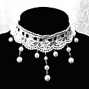 Handmade Elegant Sweet Lolita White With Pearl Chain Necklace