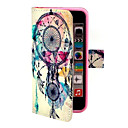 Dreamcatcher Mønster PU Læder Full Body Case med Stand og penge holder til iPhone 5C