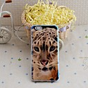 Lureme Fashion Leopard  Blu Ray Printing Silicone  Back Case for iPhone 6