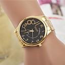 Women's Fashion Rhinestones Arabic Number Steel Belt Quartz Wrist Watch(Assorted Colors)