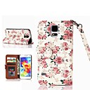 Roses Pattern PU Leather Case with Card Slot for Samsung Galaxy S5 I9600