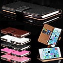 Card Holder PU Leather Solid Cover Case for iPhone 6 (Assorted Colors)