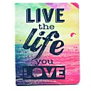 Buy Live Life Love Pattern PU Leather Full Body Case Stand iPad 2/3/4