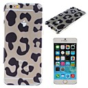 Leopard Grain Pattern Transparent PC Hard Cover for iPhone 6