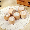 Retro Vintage Floral Flower Pattern Round Wooden Rubber Stamp(Random Pattern)