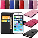 Wallet Card Holder PU Leather Case for iPhone 6 (Assorted Colors)