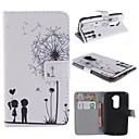 Dandelion and the Design of Lovers PU Leather Full Body Case with Stand and Card Slot for LG G2/D802