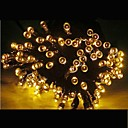 Buy 21m Solar Powered Colors 200 LED Xmas Party Indoor Outdoor Fairy StringLight Christmas Lamp -Yellow