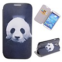 Cartoon Panda Pattern Full Body Case with Stand PU Leather Case for Samsung Galaxy S4 I9500