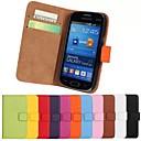 echtem Leder Ganzkörper-Fall mit Standplatz und Kartensteckplatz für Samsung-Galaxie Trend Leben s7390 s7392 (farblich sortiert)