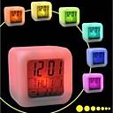 7 kleurrijke flash aanraking lichten klok