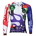 Buy PALADIN® Cycling Jersey Men's Long Sleeve Bike Breathable / Quick Dry Ultraviolet Resistant Tops 100% PolyesterFloral