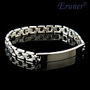 Eruner®Men's Stainless Steel High Polish Medical ID Bracelet