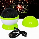 Fshion Starry Sky Colorful Rotating Projection Music Player of LED Lights (Random Color)
