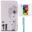 The Dandelion Lover Design PU Leather Full Body Case with Screen Protector, Stylus and Stand for Motorola moto E