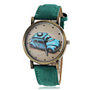 Women's Vintage Car Pattern Dial PU Band Quartz Wrist Watch (Assorted Colors)