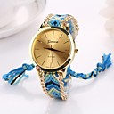 Buy Women Big Circle Dial National Hand Knitting Brand Luxury Lady Watch C&D-282 Cool Watches Unique Fashion