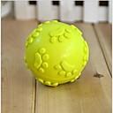 lureme® patrón huellas creativos juguete de adiestramiento de mascotas TPR mordida resistente al desgaste (color al azar)