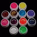 Cheapest 12PCS Mixs Pure Color UV Color Gel for Manicure Nail Tips