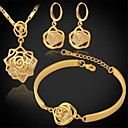 Buy Jewelry Set AAA Cubic Zirconia Zircon Platinum Plated Gold Silver Golden setWedding Party Daily Casual