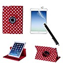 Polka Dot PU Leather Full Body Case with Touch Pen and Protective Film 2 Pcs for iPad Air 2/iPad 6(Assorted Colors)