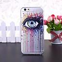 abstrakti värikäs silmä kuvio läpinäkyvä TPU pehmeä kotelo iPhone 6
