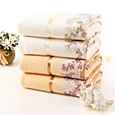 Bath Towel, 2 Colors Lace Edge 100% Cotton Untwisted Yarn Women's Towel 55