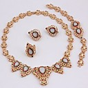 Buy Classic Rhinestone Gold Plated (Including Necklace, Earring, Bracelet, Ring) Jewelry Sets (Black,Red,White)