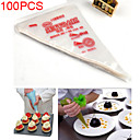 100pcs Disposable Icing Piping Cake Pastry Tip Cupcake Decorating Bags Tool(17*28cm)