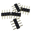 Buy (5PCS)4pin Male Connector RGB 5050/3528 LED Strip Light Connect
