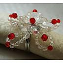 Acrylic Flower Napkin Ring, Acrylic, 1.77Inch, Set of 12