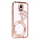 SHENGO™ Luxury Crystal Rhinestone Inlaid Style Metal Case for Samsung S5 I9600