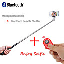 2in1 estensibile monopiede bastone Selfie palmare e scatto remoto bluetooth per iPhone / iPad e altri (colori assortiti)