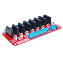 Eight Arduino solid state relay (red)