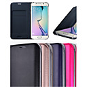 Original Leather Smart Auto Sleep with Card Slot Full Body Case for Samsung Galaxy S6 Edge (Assorted Colors)