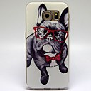 Glasses Dog Pattern TPU Soft Case for Samsung Galaxy S6
