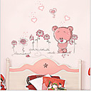 Cartoon Bear PVC Wall Sticker