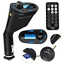 Wireless Car Kit MP3 Player FM Transmitter Bluelight Display SD MMC Slot Remote Control Car Stereo Receiver