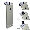 Apexel Teog lente dell'occhio 3-in-1 rapido macro cambiamento 10x grandangolare + + pesce per iphone 6&iphone 6 più