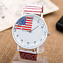 nagelneue beiläufige Damenuhr Quarz Uhrenarmband Zifferblatt Glas prominente Flaggeentwurf europäischen und amerikanischen Stil